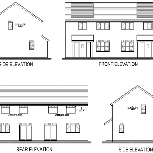 semi detached house plans drawings of elevations